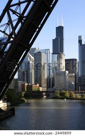 Chicago Drawbridge - stock photo