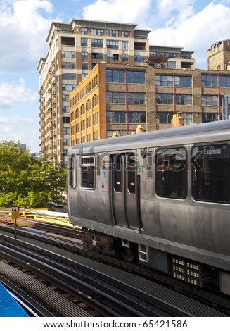 Chicago EL Train - stock photo