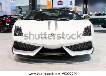 CHICAGO - FEB 8: A Lamborghini Gallardo on display at the 2012 Chicago Auto Show Media Preview on February 8, 2012 in Chicago, Illinois. - stock photo