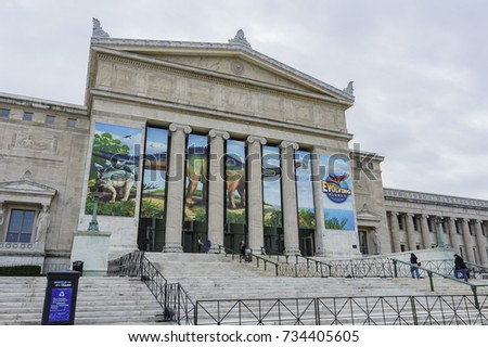 Chicago, FEB 1: Main entrance of Shedd Aquarium on FEB 1, 2012 at Chicago, Illinois, United States