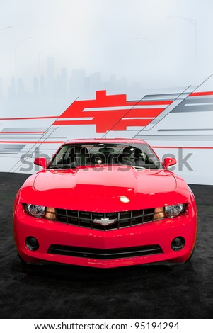 CHICAGO - FEB 9: The 2012 Chevy Camaro at the 2012 Chicago Auto Show Media Preview on February 9, 2012 in Chicago, Illinois. - stock photo