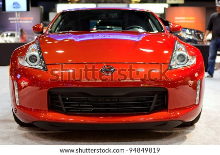 CHICAGO - FEB 9: The Nissan 370 Z at the 2012 Chicago Auto Show Media Preview on February 9, 2012 in Chicago, Illinois. - stock photo