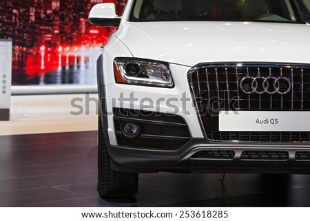 Chicago - February 13: An Audi Q5 on display February 13th, 2015 at the 2015 Chicago Auto Show in Chicago, Illinois. - stock photo