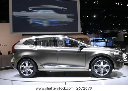 CHICAGO - FEBRUARY 10 :The new VOLVO CX90 is a luxury design with executive styling. displayed at Chicago Auto Show on February 10, 2007 - stock photo