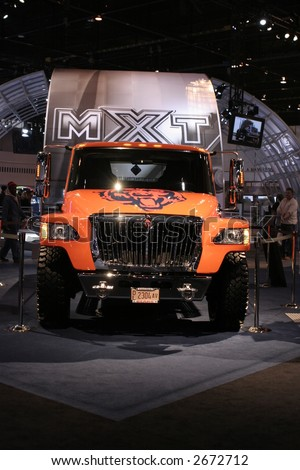 CHICAGO - FEBRUARY 10 this truck was tricked-out Chicago Bears edition of their new MXT.  displayed at Chicago Auto Show on February 10, 2007 - stock photo