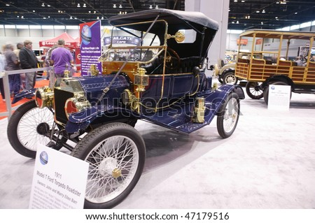 CHICAGO - FEBRUARY 13: Vintage Ford Model T presentation at the Annual Chicago Auto Show February 13 2010 in Chicago, IL. - stock photo
