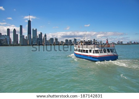 Chicago from the lake - stock photo