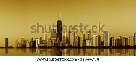 Chicago gold coast. - stock photo