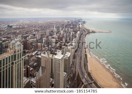 Chicago Gold Coast Area - stock photo