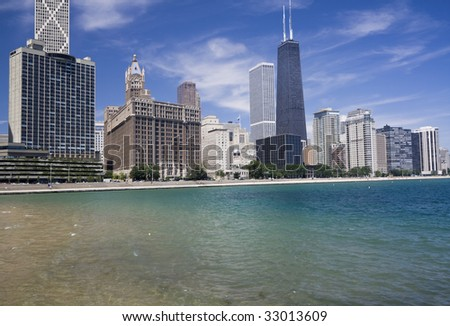 Chicago - Gold Coast - summer time. - stock photo
