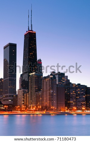 Chicago, Hancock Tower. - stock photo