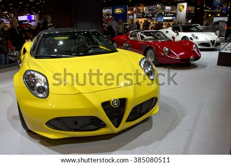 CHICAGO, IL - FEBRUARY 15: ALFA ROMEO showroom at the annual International auto-show, February 15, 2016 in Chicago, IL