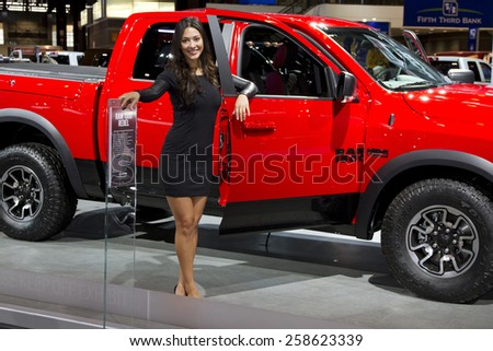 CHICAGO, IL - FEBRUARY 15: DODGE RAM 1500 at the annual International auto-show, February 15, 2015 in Chicago, IL - stock photo