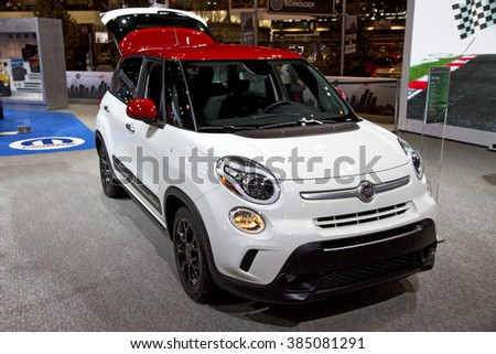 CHICAGO, IL - FEBRUARY 15: FIAT 500X at the annual International auto-show, February 15, 2016 in Chicago, IL