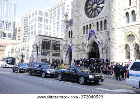 Chicago, IL, USA � April 23, 2015: [Cardinal Francis George's Funeral].