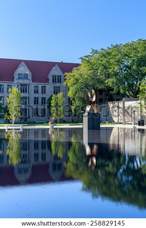 CHICAGO, IL, USA - SEPTEMBER 22, 2014: Impressions from the University of Chicago law school in Chicago, IL, USA in September 2014. - stock photo