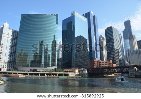 Chicago, Illinois -  September 5, 2015: Chicago skyline, USA