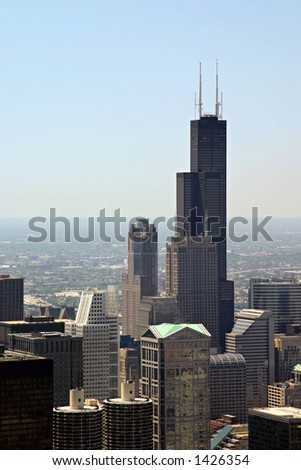 Chicago, Illinois - view from John Hancock Building