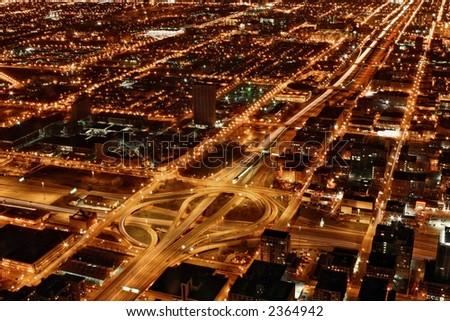 Chicago Interstate - stock photo