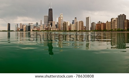 Chicago lakefront. - stock photo