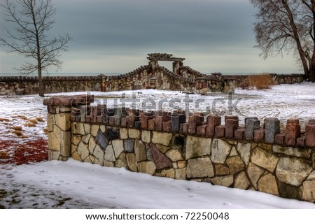 Chicago Lincoln Park by Lake Michigan - stock photo