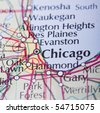 Chicago map - stock photo