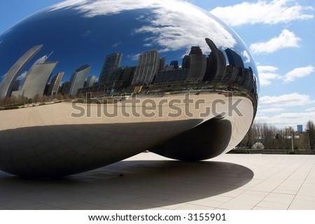Chicago Millennium Park Kidney Bean - stock photo