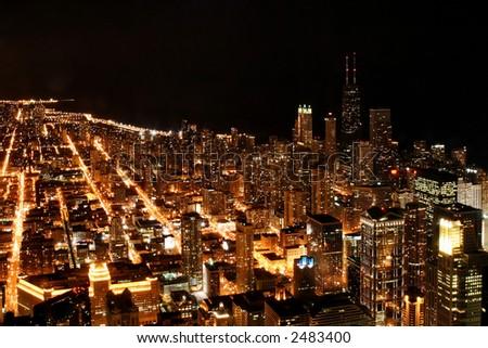 Chicago Night - stock photo