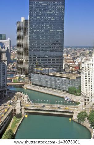 Chicago River, Chicago, Illinois - stock photo