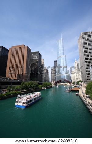Chicago River, United States - stock photo