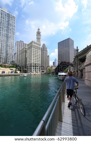 Chicago River, US - stock photo