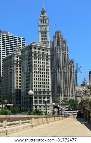 Chicago riverwalk - stock photo