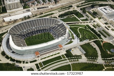 Chicago's famous football stadium photographed in the daylight - stock photo
