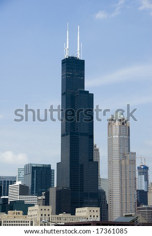 Chicago's famous Sears Tower building - stock photo