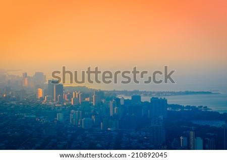 Chicago´s Gold Coast Shoreline - stock photo
