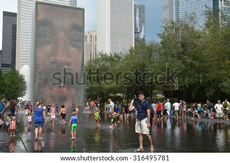 CHICAGO - September 5, 2015: Millenium park in Chicago, IL, USA. - stock photo