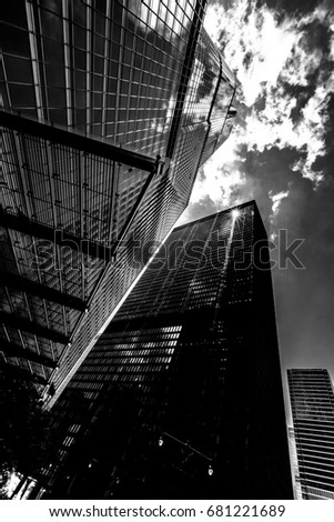 Chicago Silhouette in Black and White