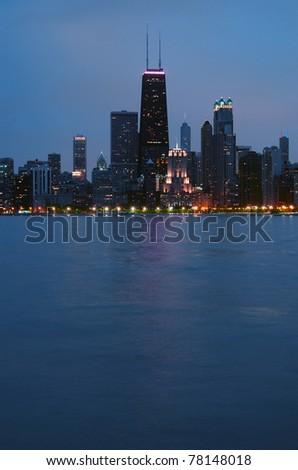 Chicago skyline - stock photo