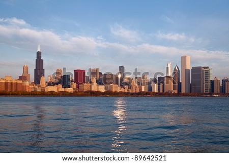 Chicago Skyline. - stock photo
