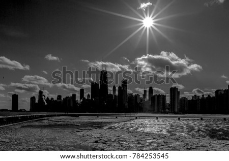 Chicago Skyline in Black and White
