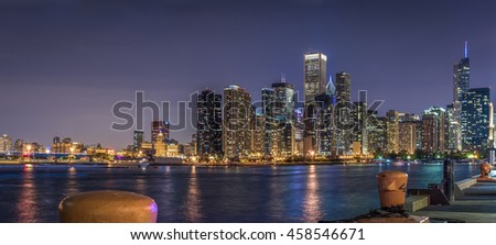 Chicago Skyline, Loop view from Navy Pier