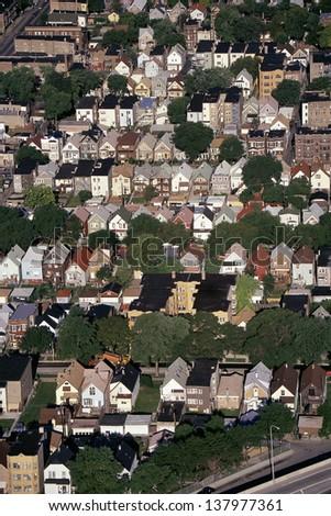 Chicago suburbs, IL - stock photo