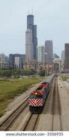 Chicago Train - stock photo