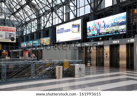 CHICAGO, USA - MAY 10, 2011: Ogilvie Transportation Center in Chicago, USA. - stock photo