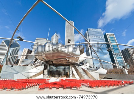 CHICAGO, USA - NOVEMBER 14: The Millennium Park in downtown Chicago on November 14, 2010, which costs $475 million and is completed in 2004, a major construction since the World's Exposition of 1893. - stock photo