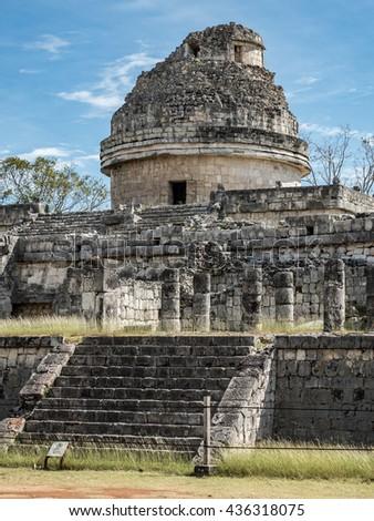 Chichen Itza archeological sit of  Maya ruins in Mexico. Yucatan - stock photo