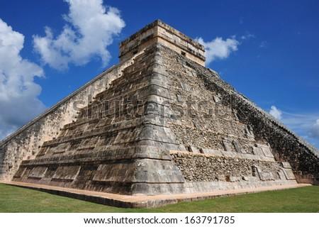 Chichen Itza in Mexico in November 2013. - stock photo