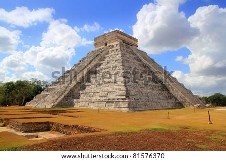 Chichen Itza Kukulcan Mayan Pyramid new underground excavation discoveries - stock photo