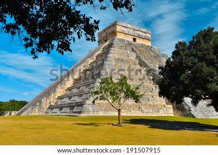 Chichen-Itza Mayan Ruin - stock photo