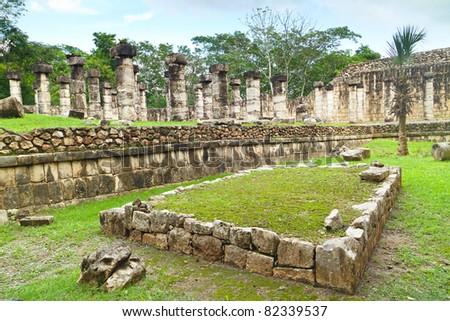 Chichen Itza Mayan ruins - stock photo